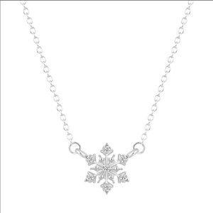 ❄️ Silver Sparkle Snowflake Necklace